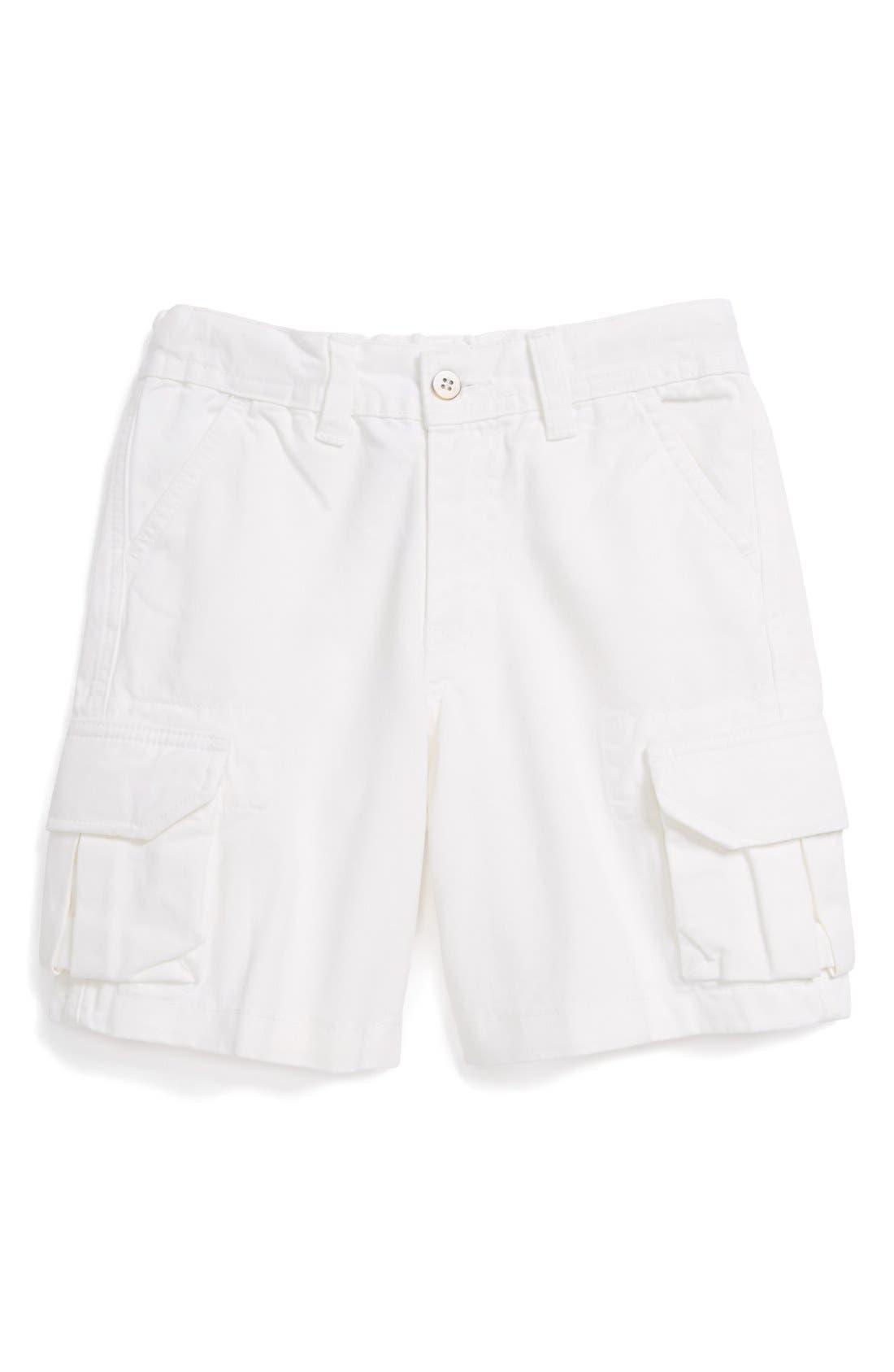 Alternate Image 1 Selected - Oscar de la Renta Twill Cargo Shorts (Toddler Boys)