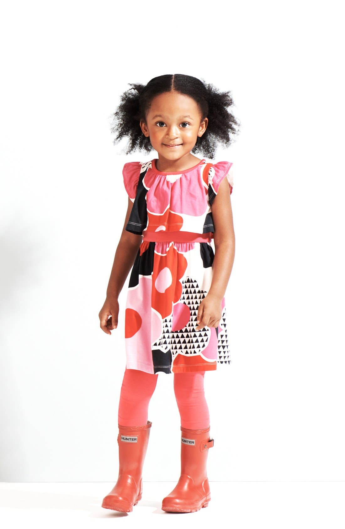 Alternate Image 1 Selected - Tea Collection Dress & Leggings (Little Girls & Big Girls)