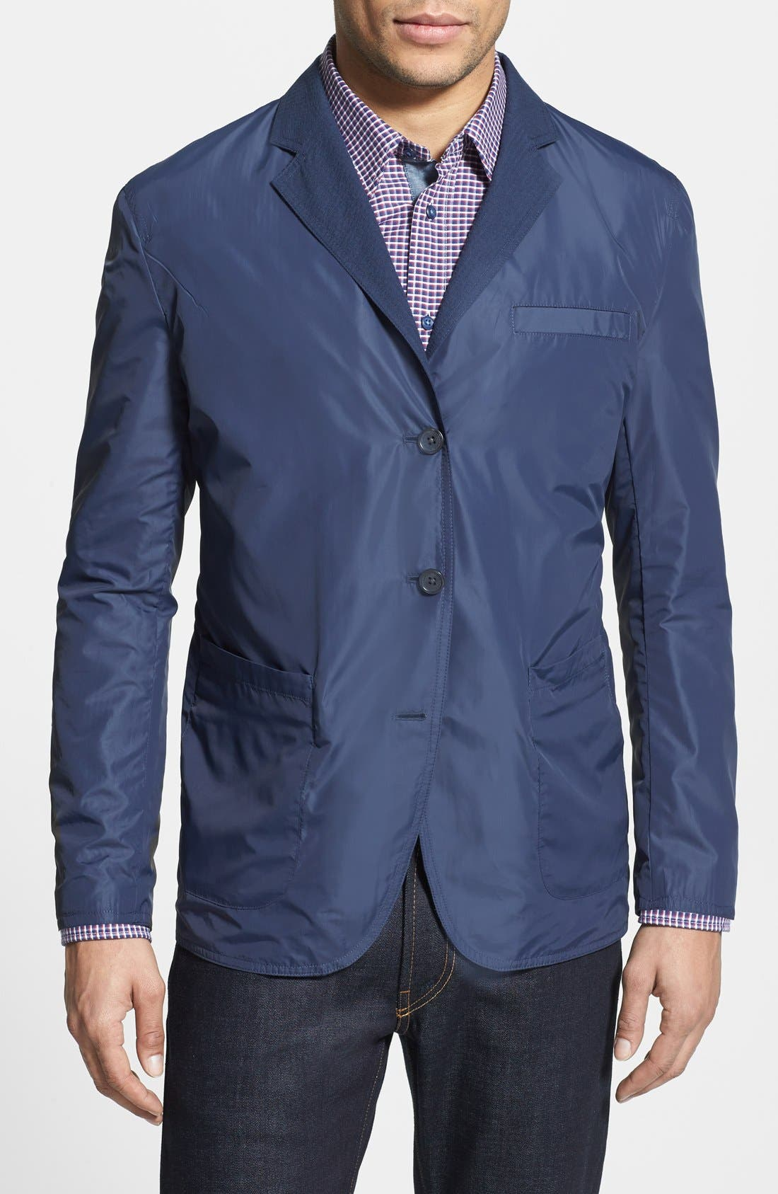 Alternate Image 4  - Vince Camuto Slim Fit Reversible Seersucker Blazer