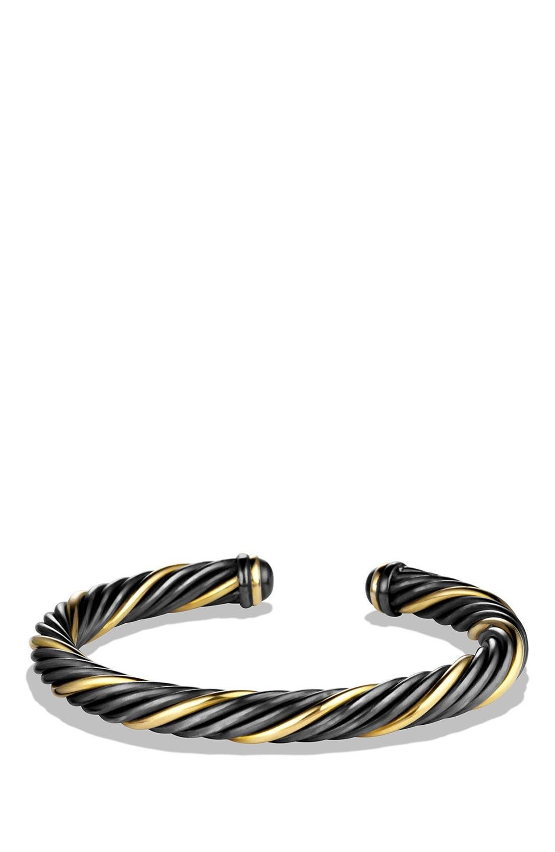Alternate Image 1 Selected - David Yurman 'Black and Gold' Cable Bracelet