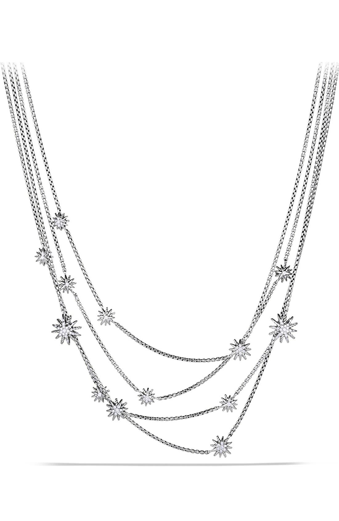 Alternate Image 1 Selected - David Yurman 'Starburst' Chain Necklace with Diamonds