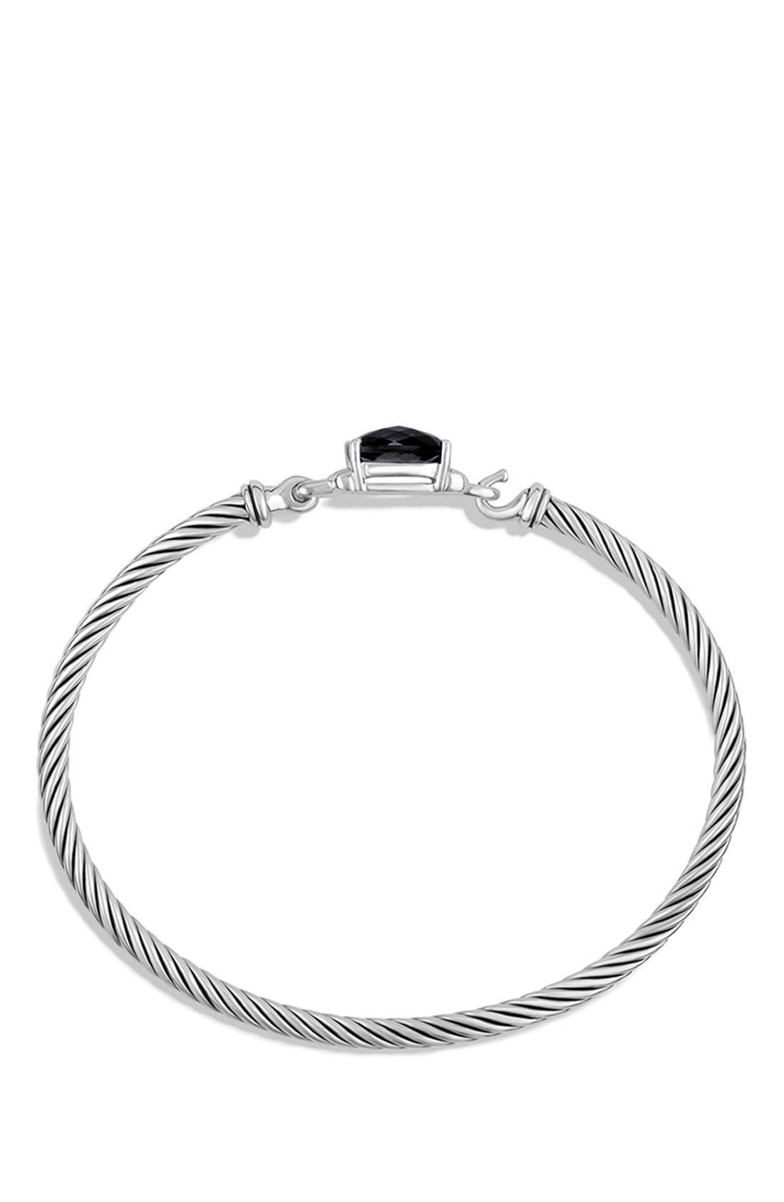 Alternate Image 2  - David Yurman 'Petite Wheaton' Bracelet with Semiprecious Stone & Diamonds