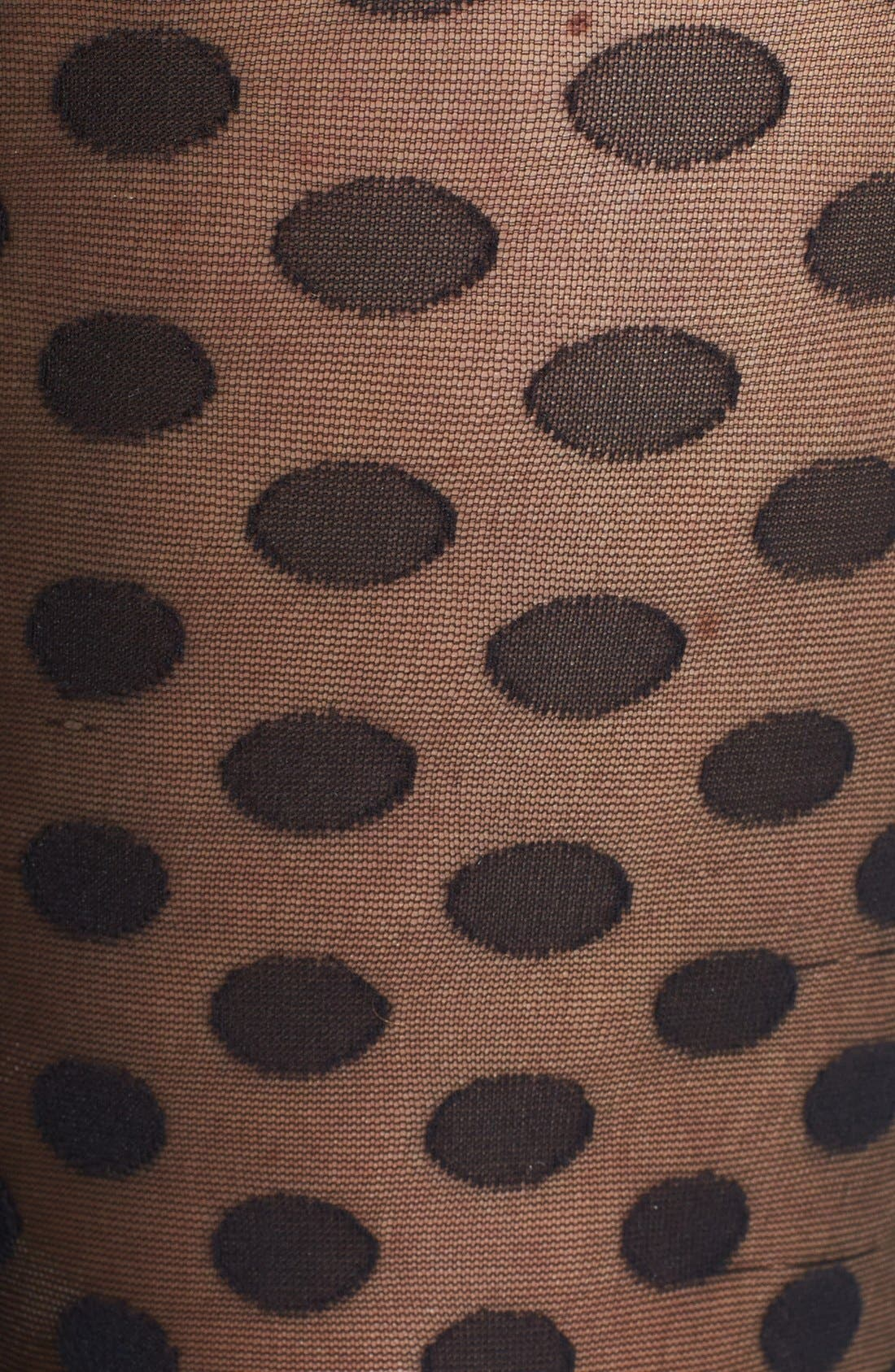 Alternate Image 2  - Hue Sheer Dot Control Top Tights