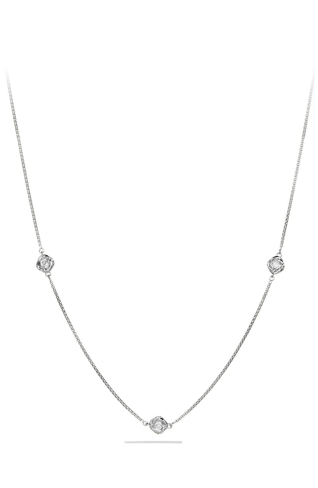 Alternate Image 1 Selected - David Yurman 'Infinity' Necklace with Diamonds