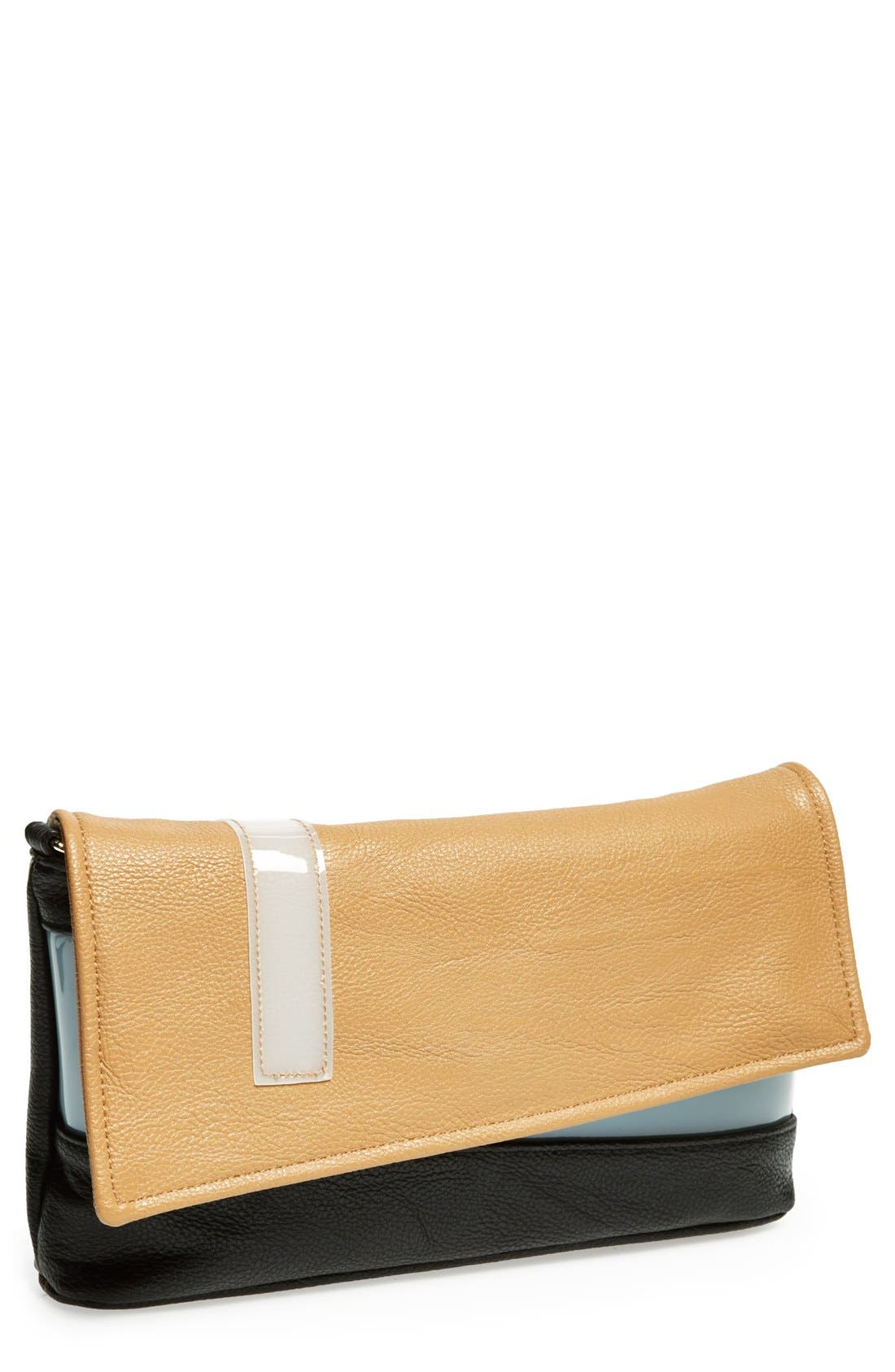 Main Image - POVERTY FLATS by rian Colorblock Flap Clutch