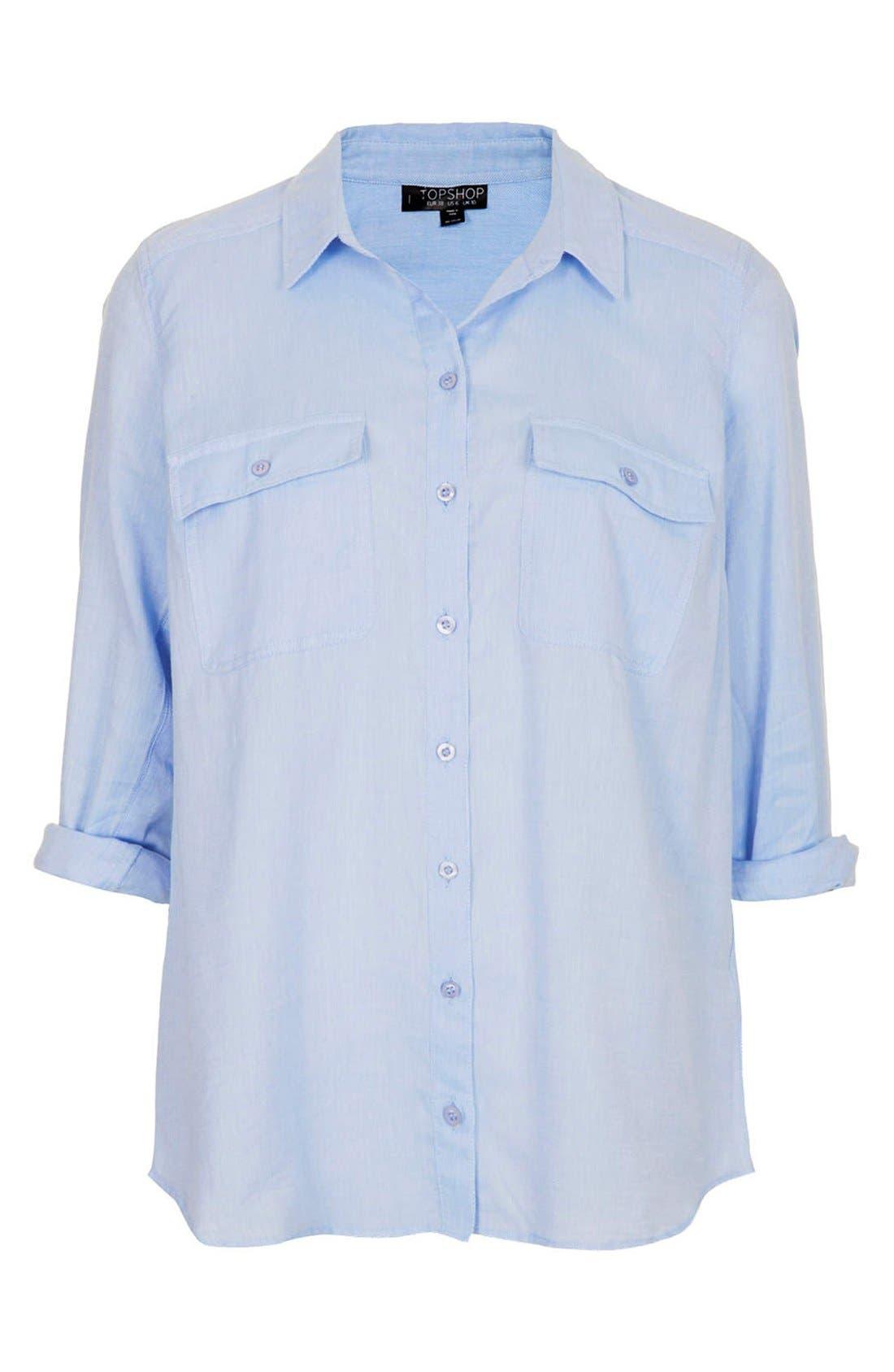 Alternate Image 2  - Topshop Chambray Utility Shirt