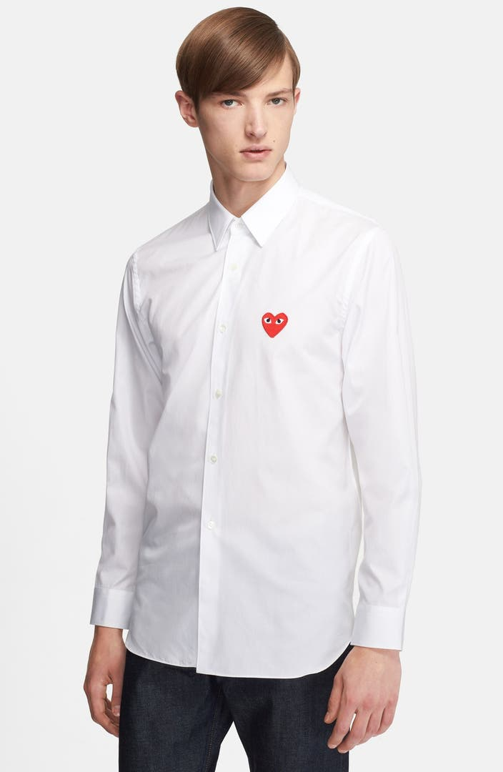 Comme des gar ons play woven shirt nordstrom for Commes des garcons play shirt