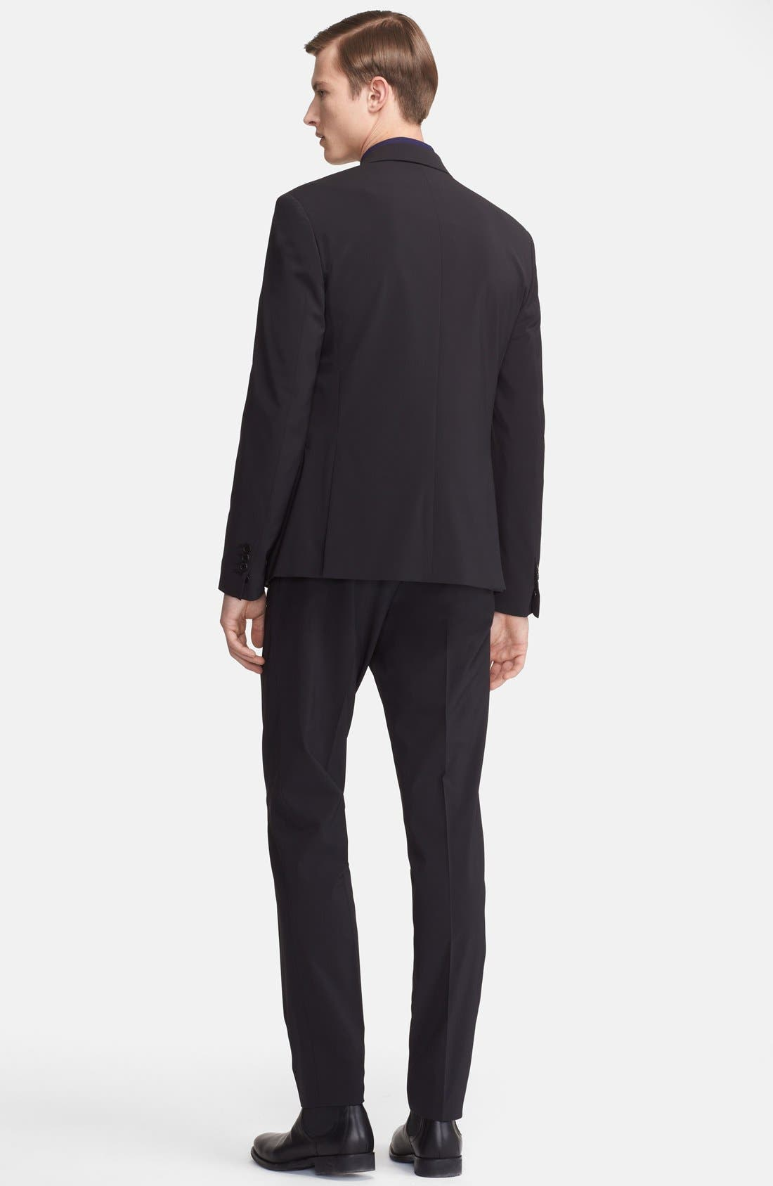 Alternate Image 2  - Neil Barrett Slim Fit Techno Stretch Suit