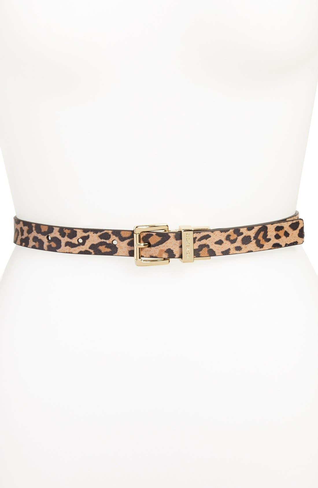 Alternate Image 1 Selected - MICHAEL Michael Kors Reversible Leopard Print Leather Belt