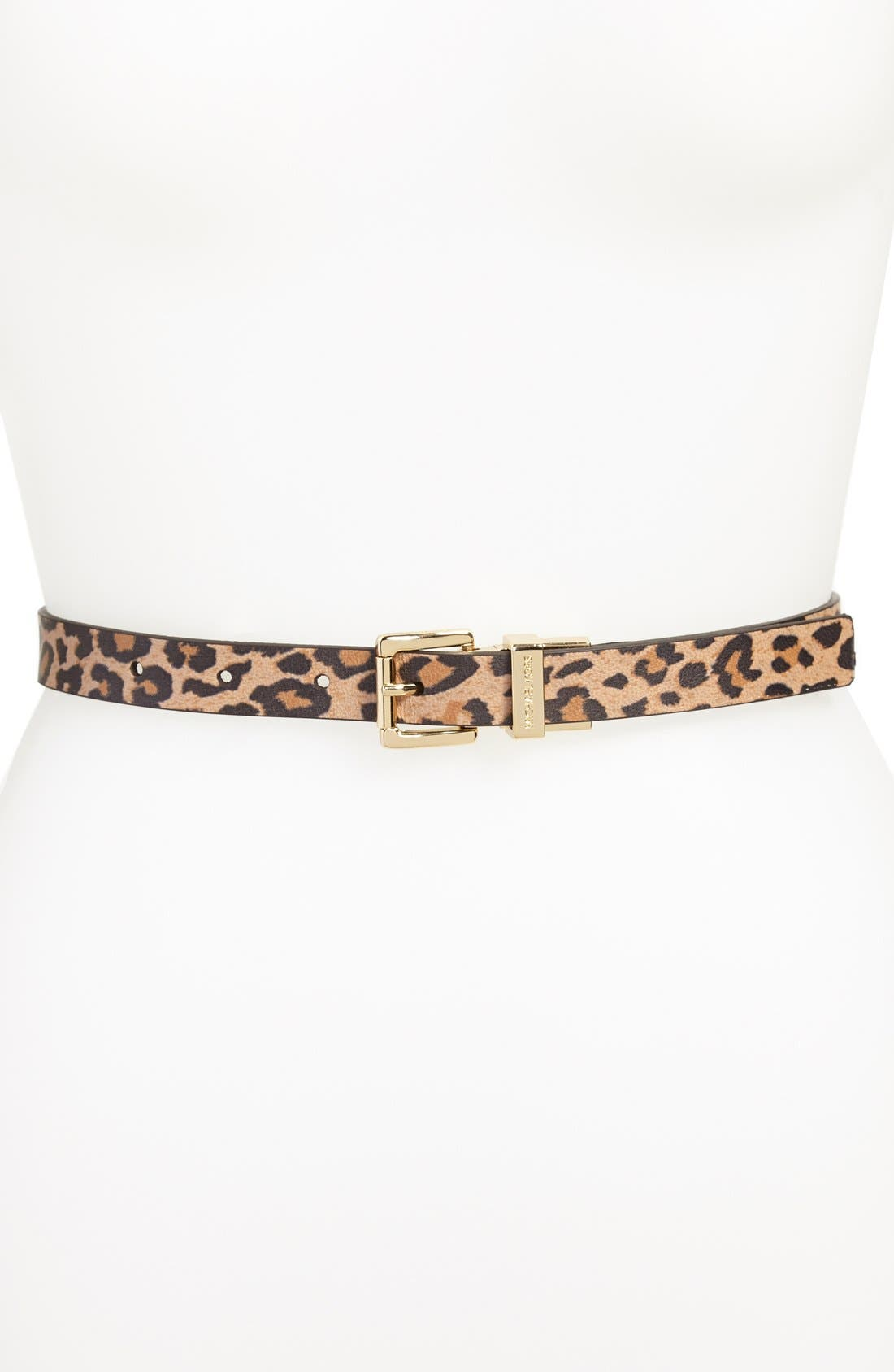 Main Image - MICHAEL Michael Kors Reversible Leopard Print Leather Belt