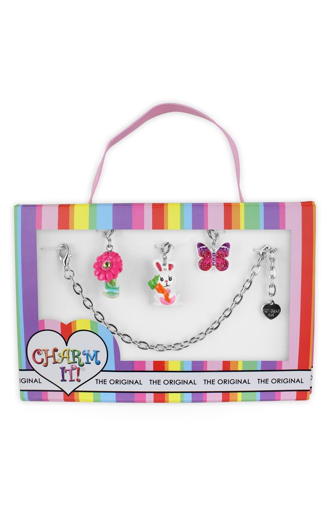 Alternate Image 1 Selected - CHARM IT!® 'Spring' Charm Bracelet Gift Set (Girls)