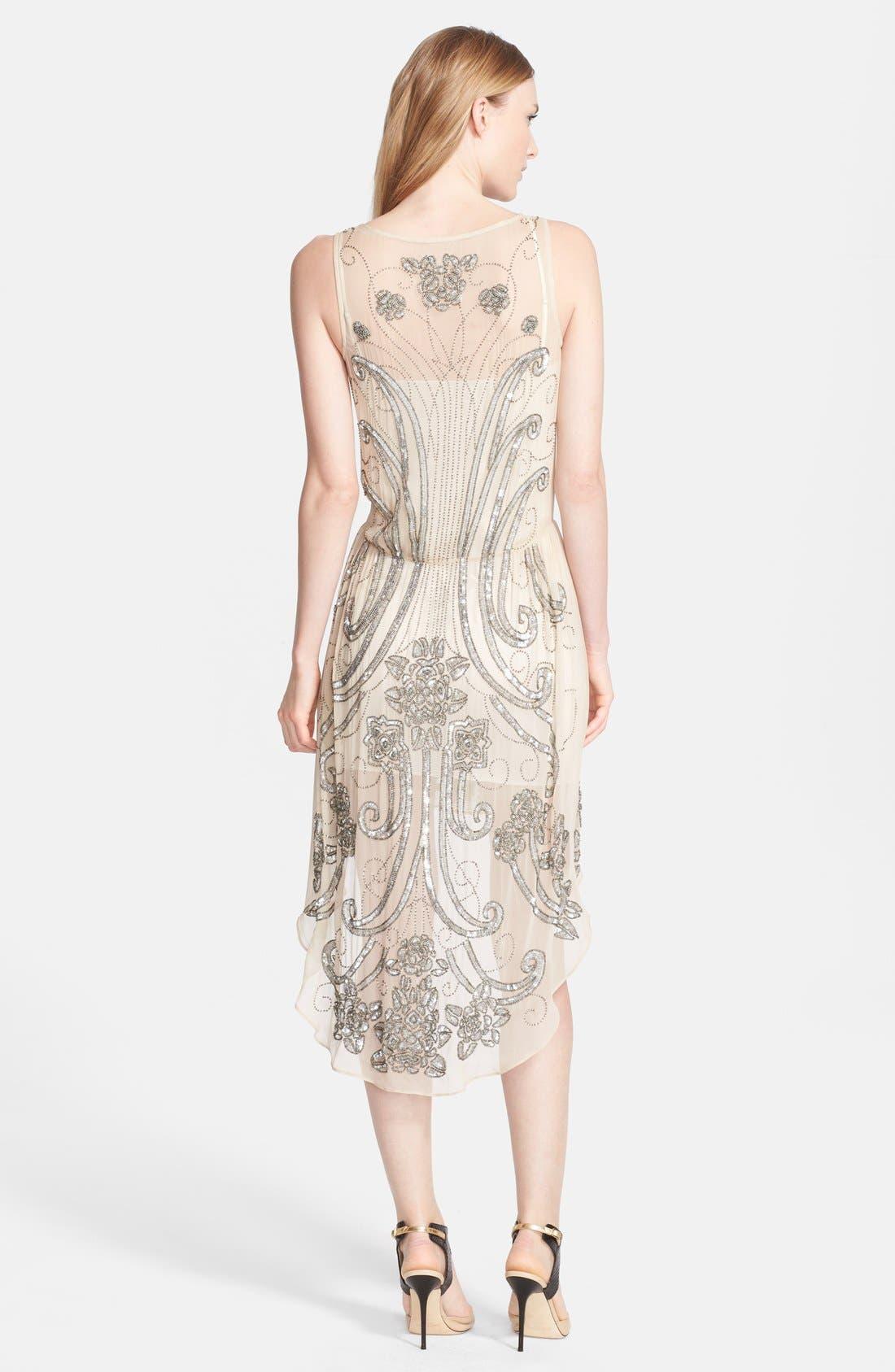Alternate Image 2  - Haute Hippie Embellished Silk Dress