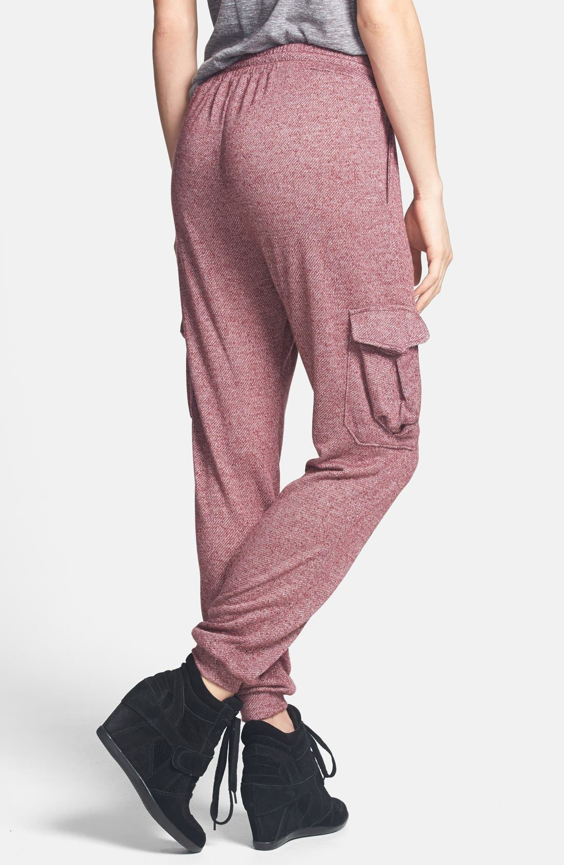 Alternate Image 2  - Lily White Cargo Sweatpants (Juniors) (Online Only)