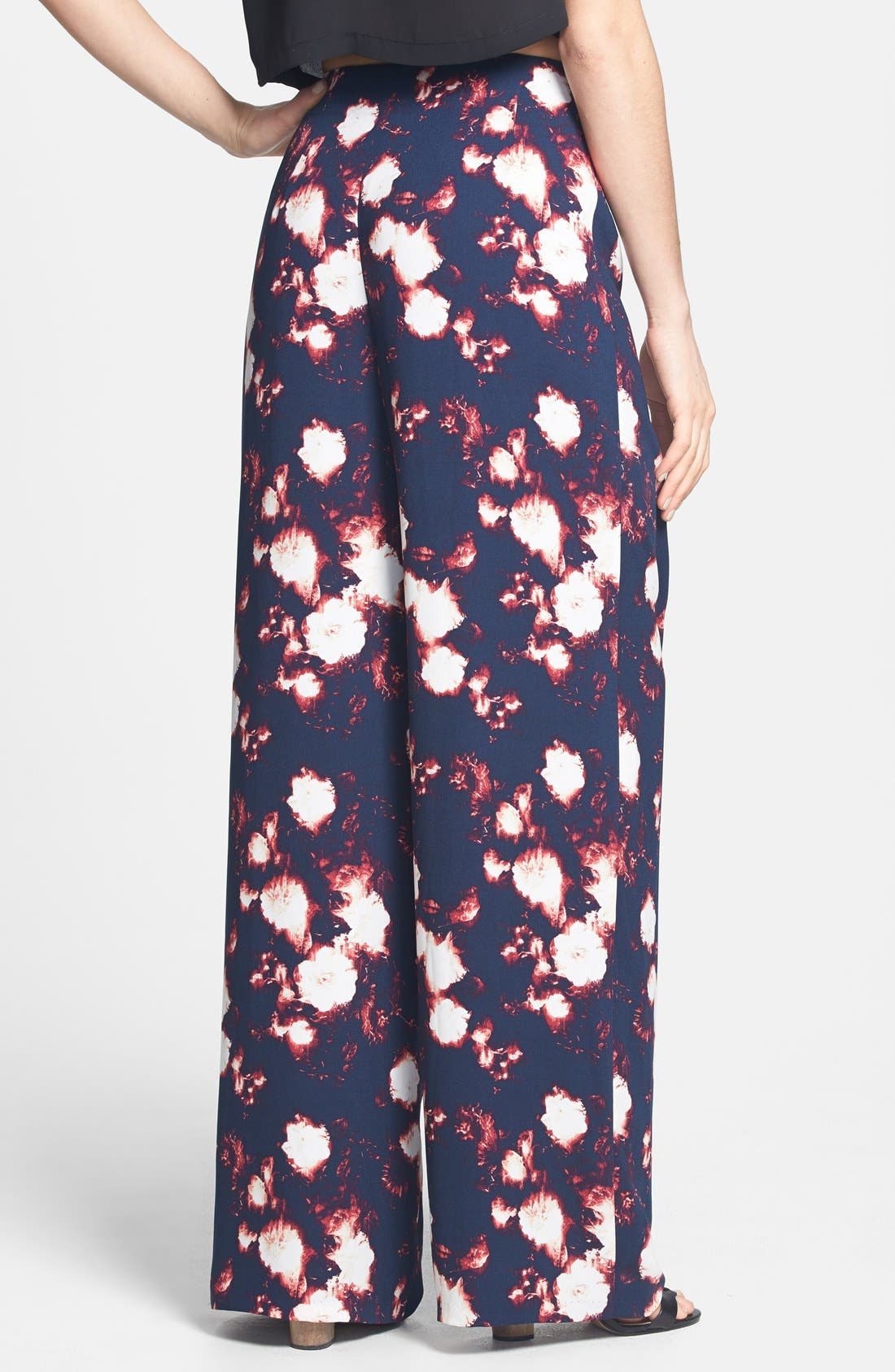 Alternate Image 2  - Tildon Print High Rise Wide Leg Pants