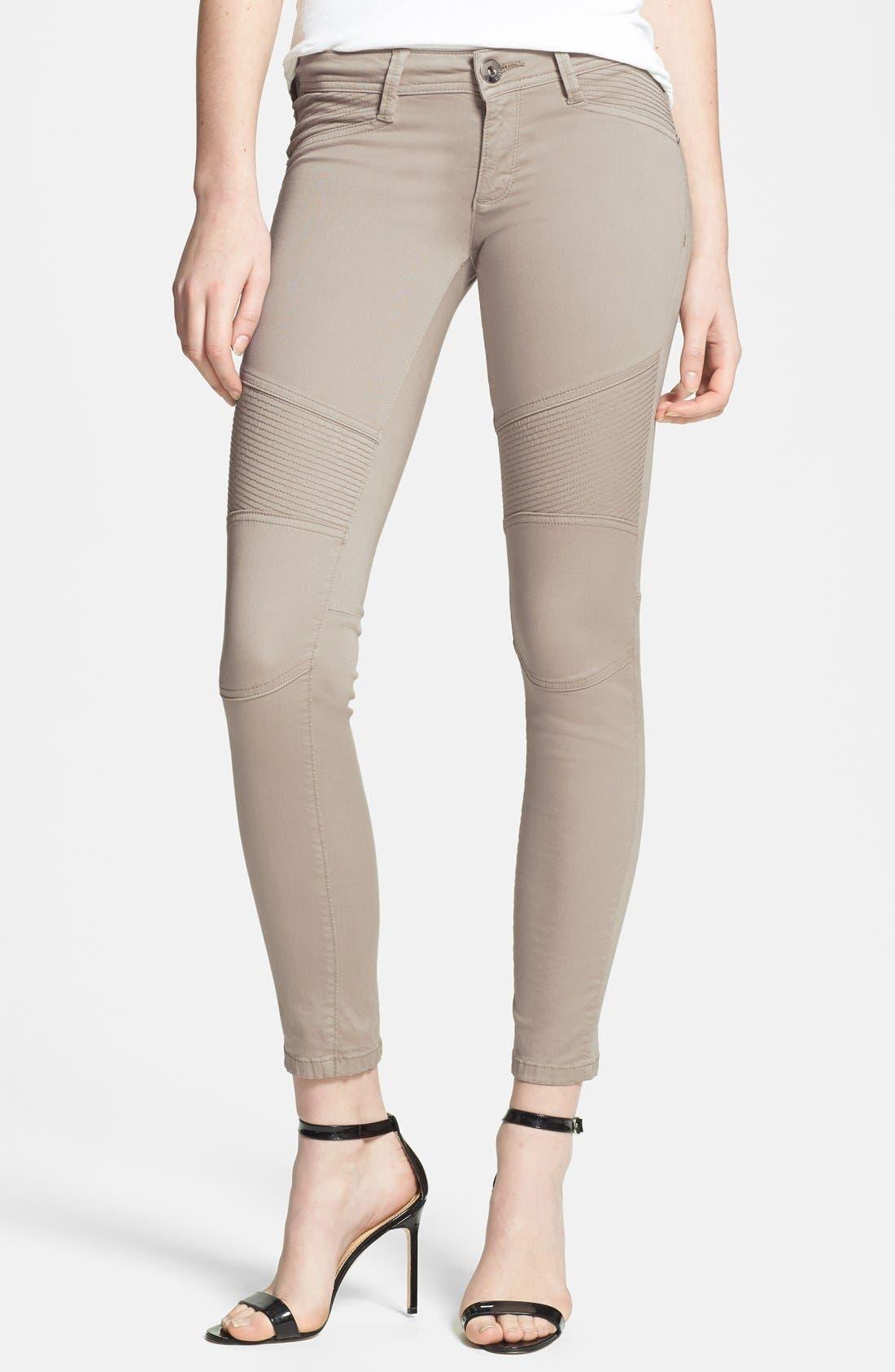 Alternate Image 1 Selected - DL1961 'Harlow' Moto Crop Skinny Jeans (Morton)