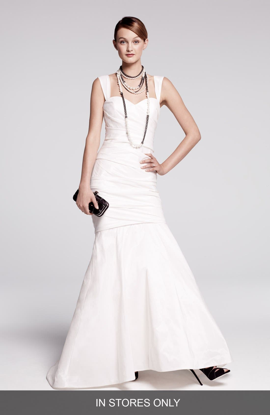Alternate Image 1 Selected - Amsale Taffeta Mermaid Dress (In Stores Only)