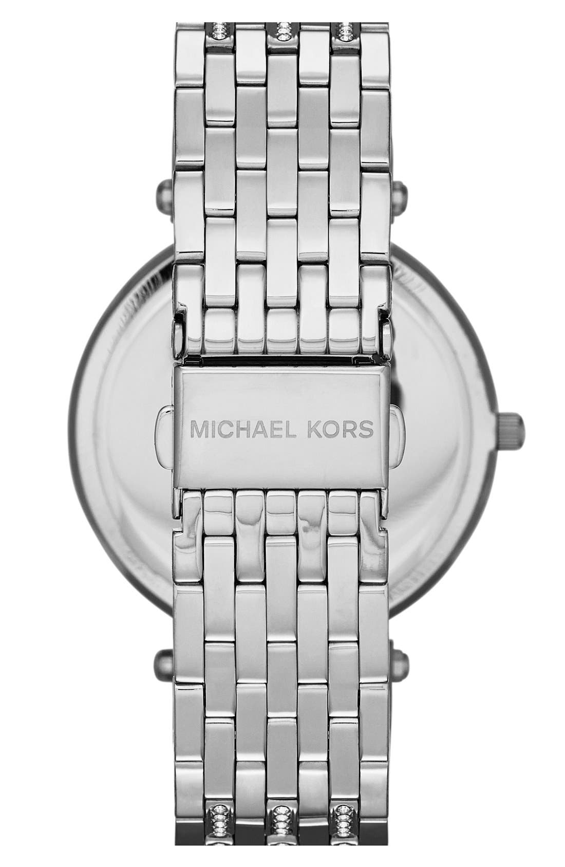 Alternate Image 2  - Michael Kors 'Darci' Crystal Bezel Bracelet Watch, 39mm
