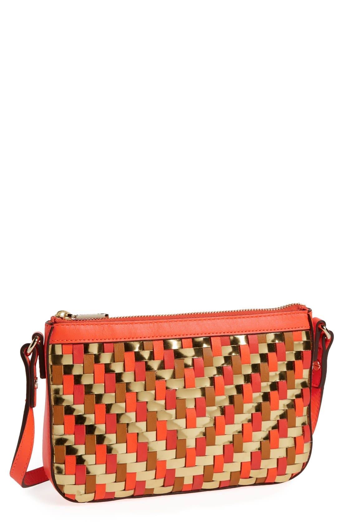 Alternate Image 1 Selected - Milly 'Dylan - Mini' Woven Crossbody Bag