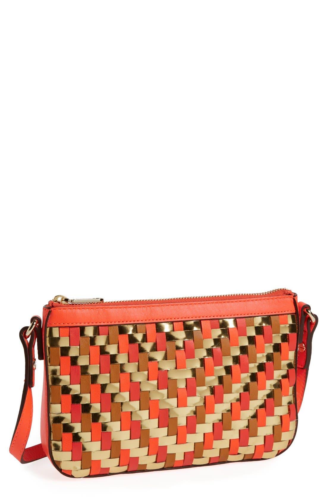 Main Image - Milly 'Dylan - Mini' Woven Crossbody Bag