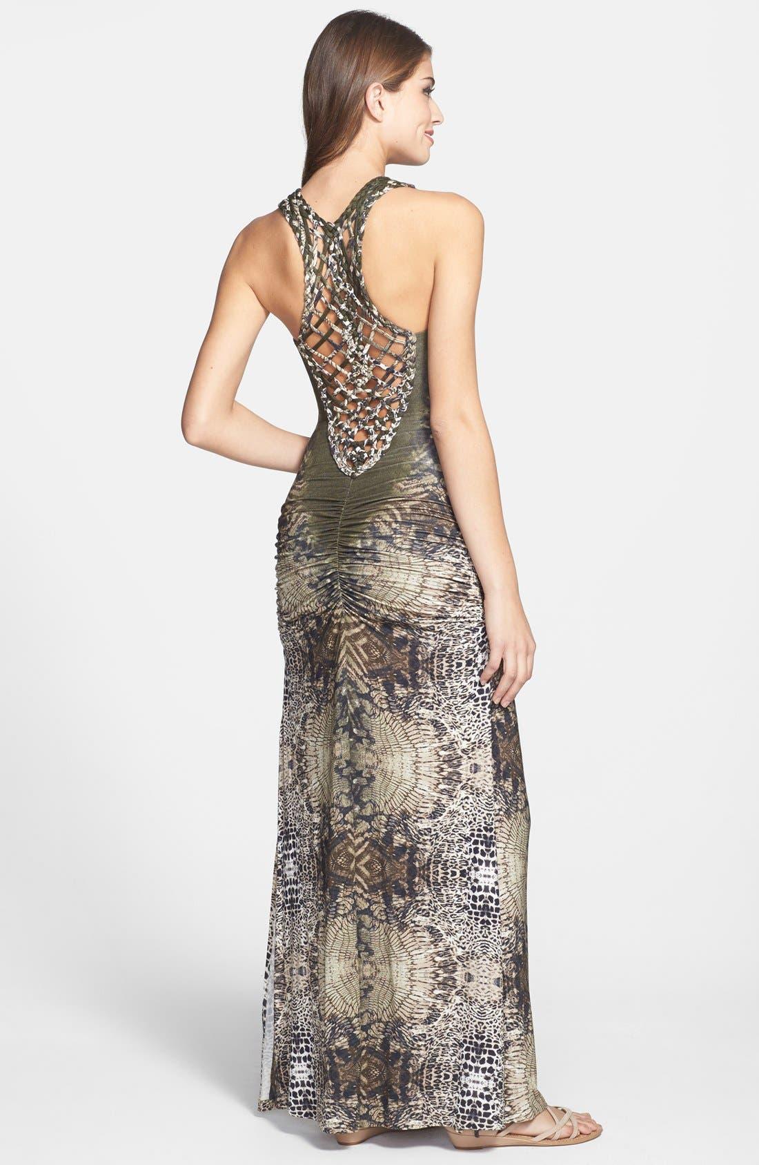 Alternate Image 2  - Sky 'Iakova' Print Ruched Jersey Maxi Dress