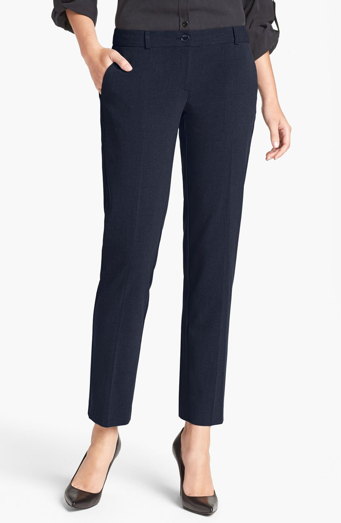 Alternate Image 1 Selected - MICHAEL Michael Kors 'Miranda' Stretch Ankle Pants (Regular & Petite)
