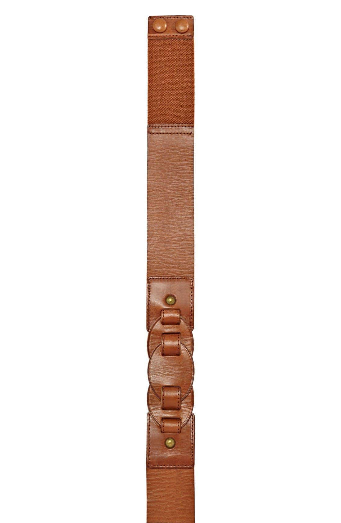 Alternate Image 2  - Fossil Stretch Leather Belt