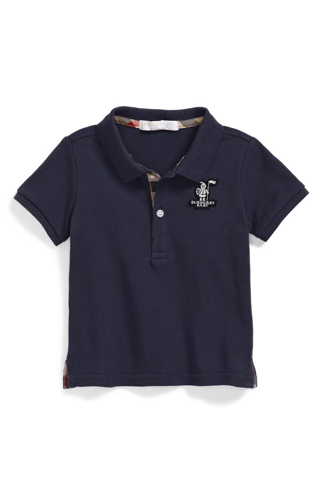 Main Image - Burberry 'Palmer' Logo Polo (Baby Boys)