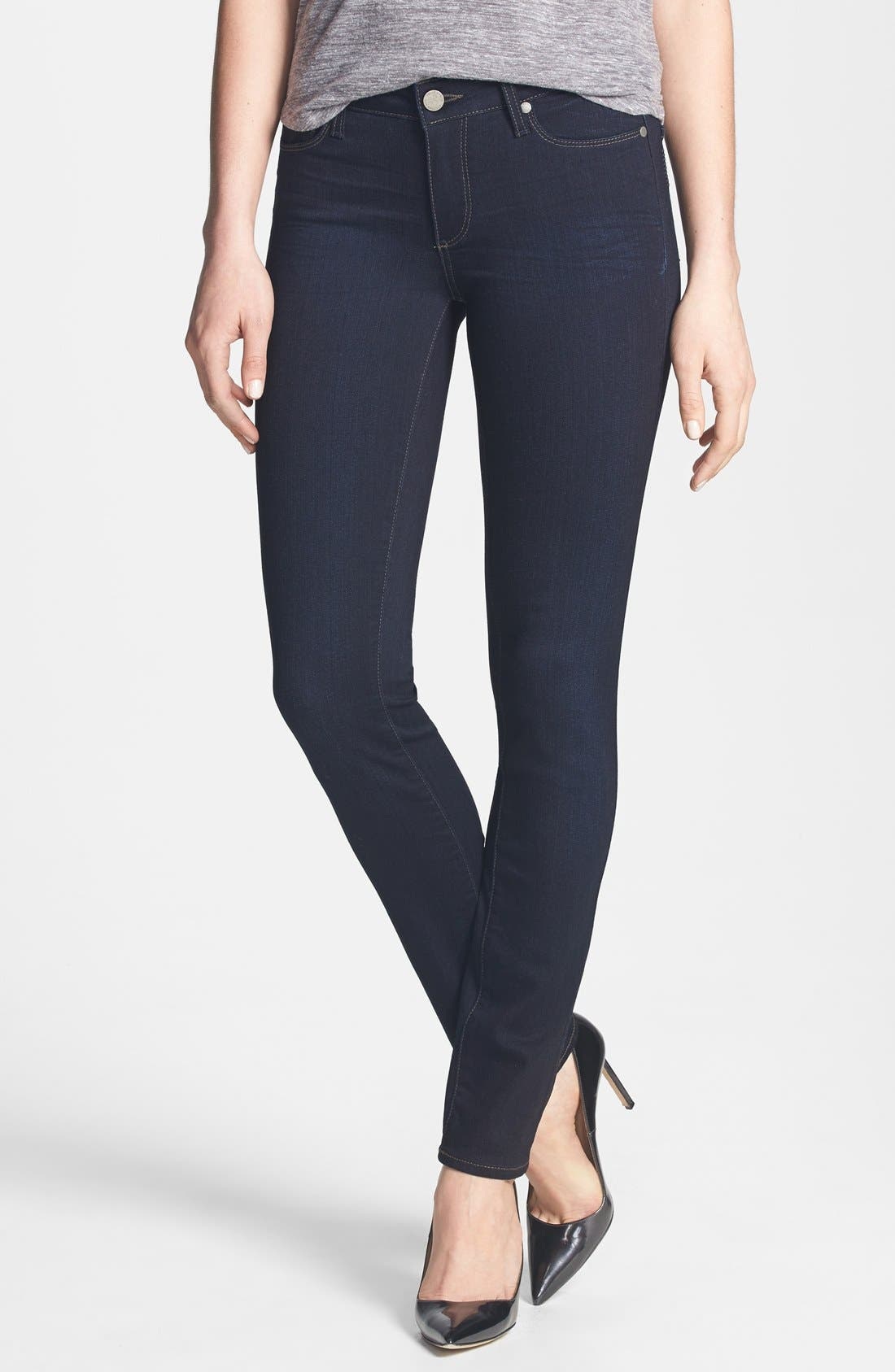 Main Image - PAIGE 'Transcend - Skyline' Skinny Jeans (Mona)