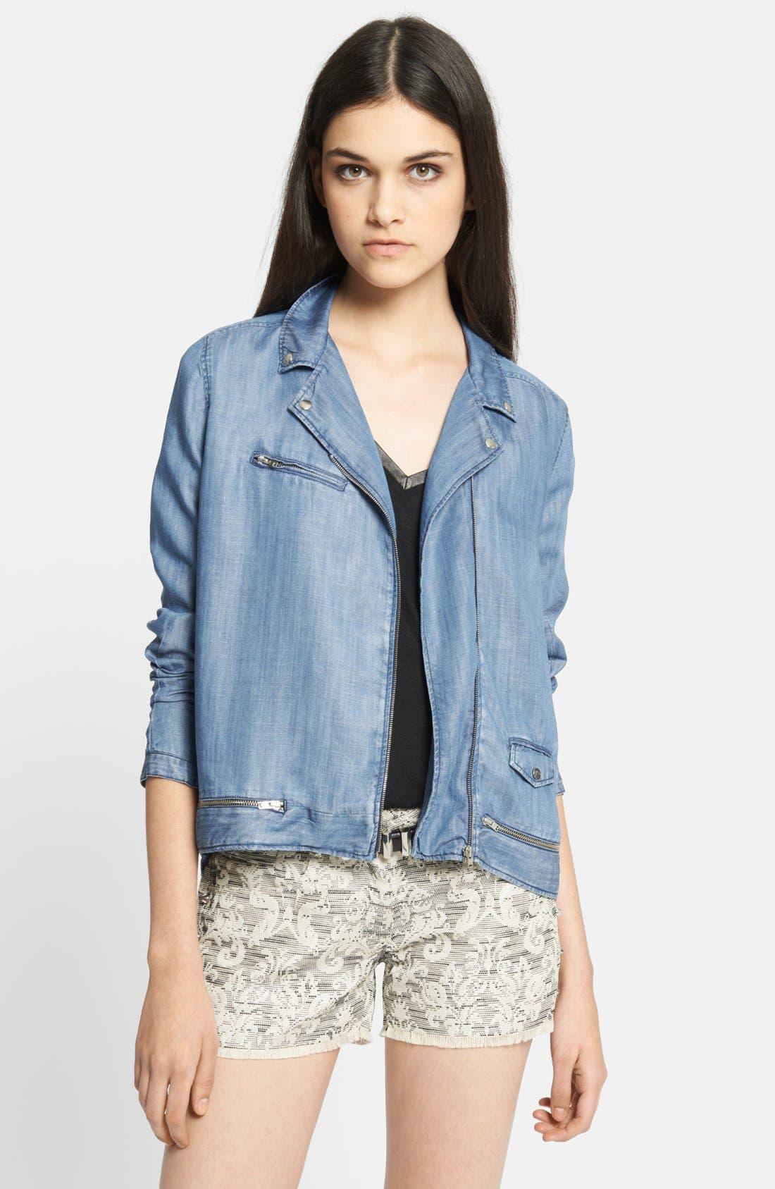 Alternate Image 1 Selected - The Kooples Lightweight Denim Jacket
