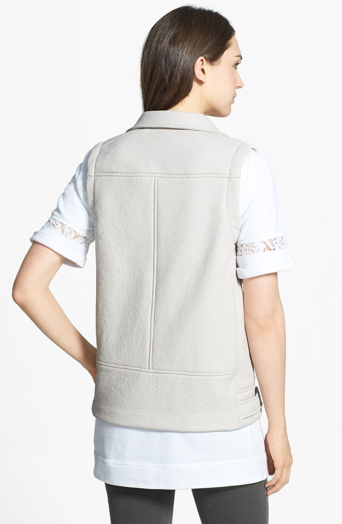 Alternate Image 2  - Rebecca Taylor Rubberized Asymmetrical Vest