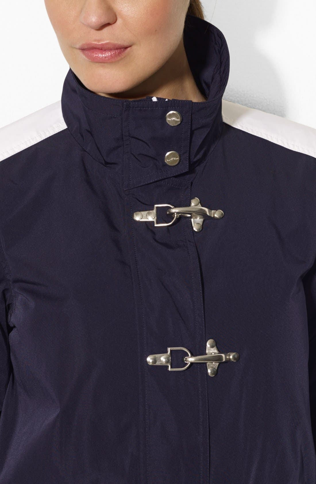 Alternate Image 3  - Lauren Ralph Lauren Clasp Closure Stand Collar Jacket
