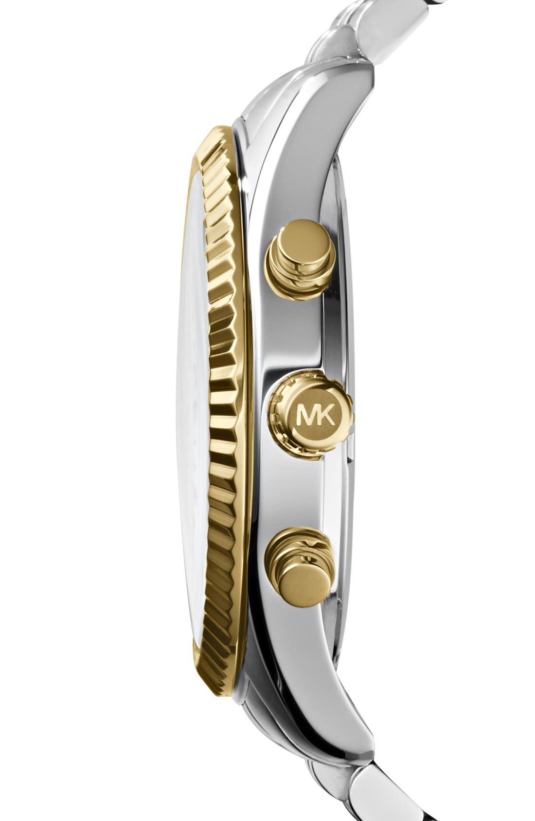 Alternate Image 3  - Michael Kors Large Lexington Chronograph Bracelet Watch, 45mm