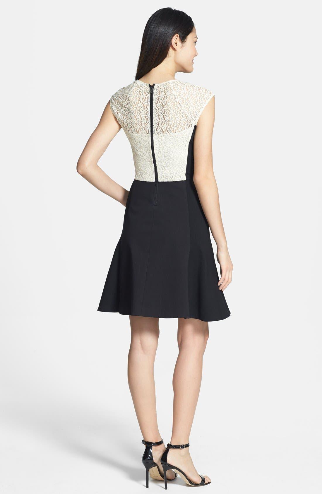Alternate Image 2  - DKNYC Cap Sleeve Fit & Flare Dress