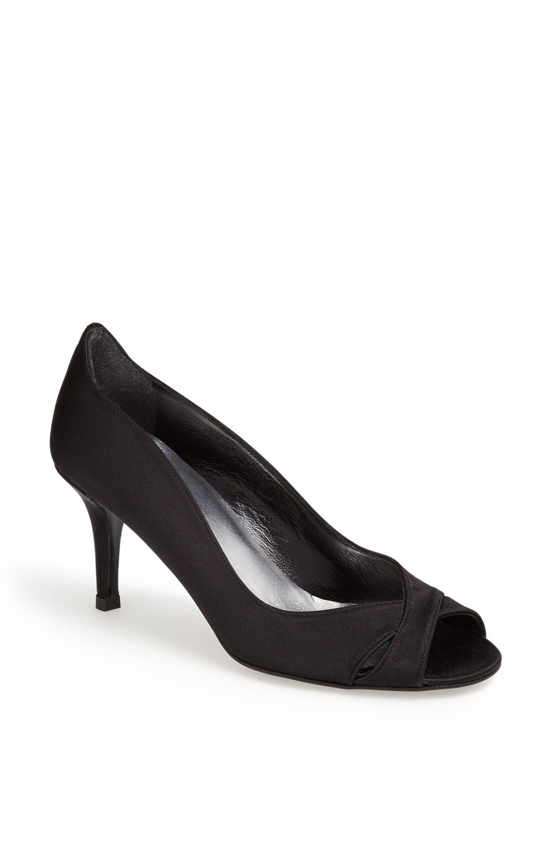 Alternate Image 1 Selected - Stuart Weitzman 'Showupritz' Satin Peep Toe Pump