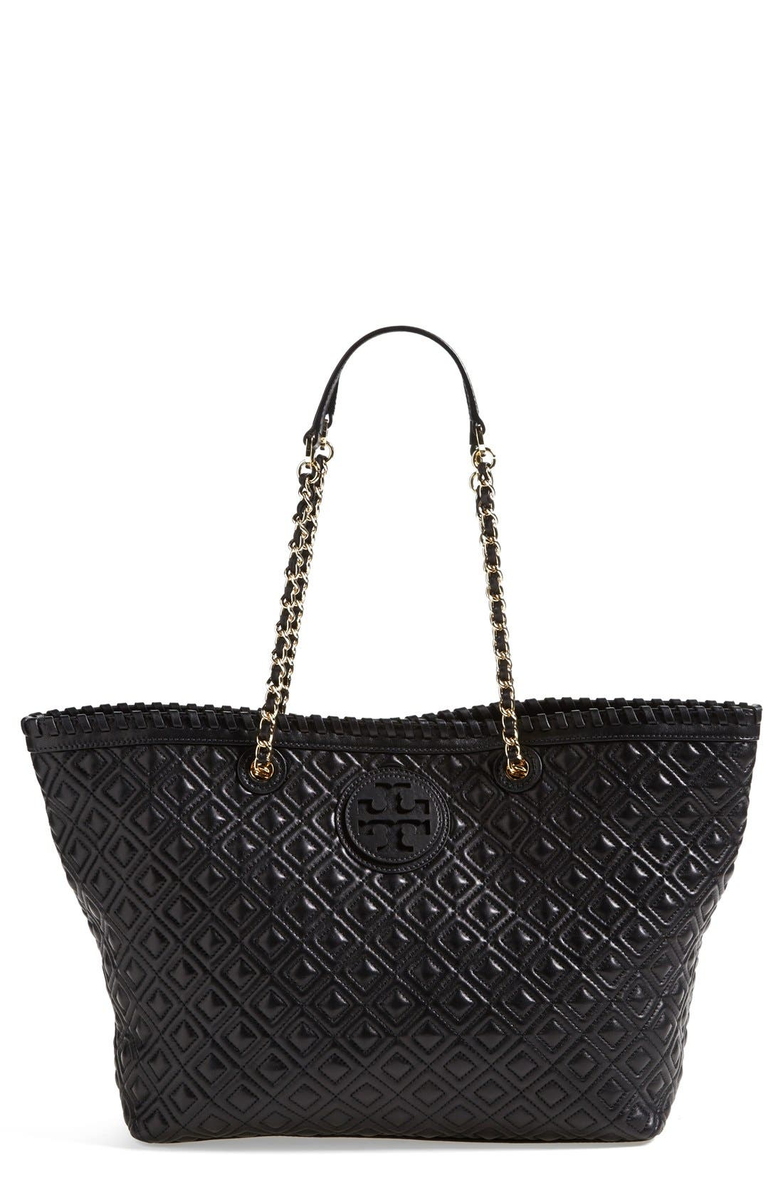 Alternate Image 1 Selected - Tory Burch 'Small Marion' Leather Tote
