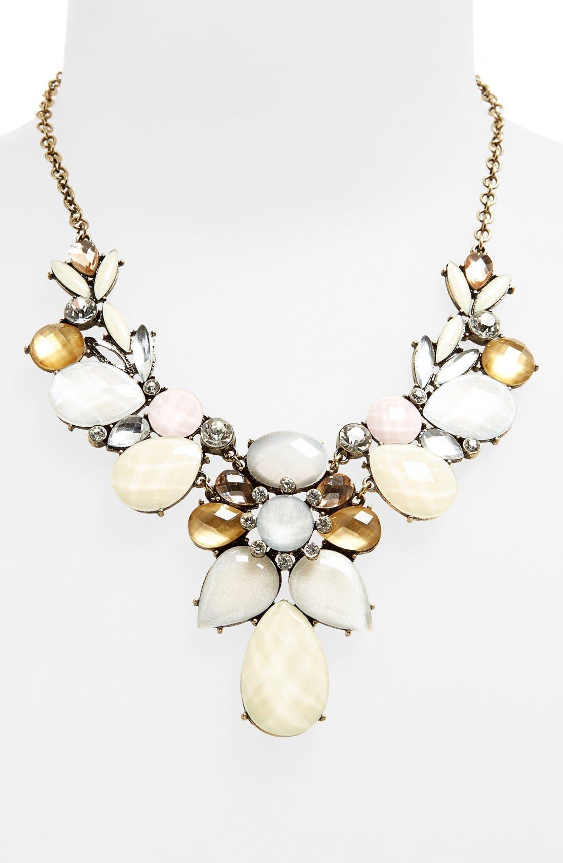 Alternate Image 1 Selected - Tildon 'Vintage' Floral Drop Necklace