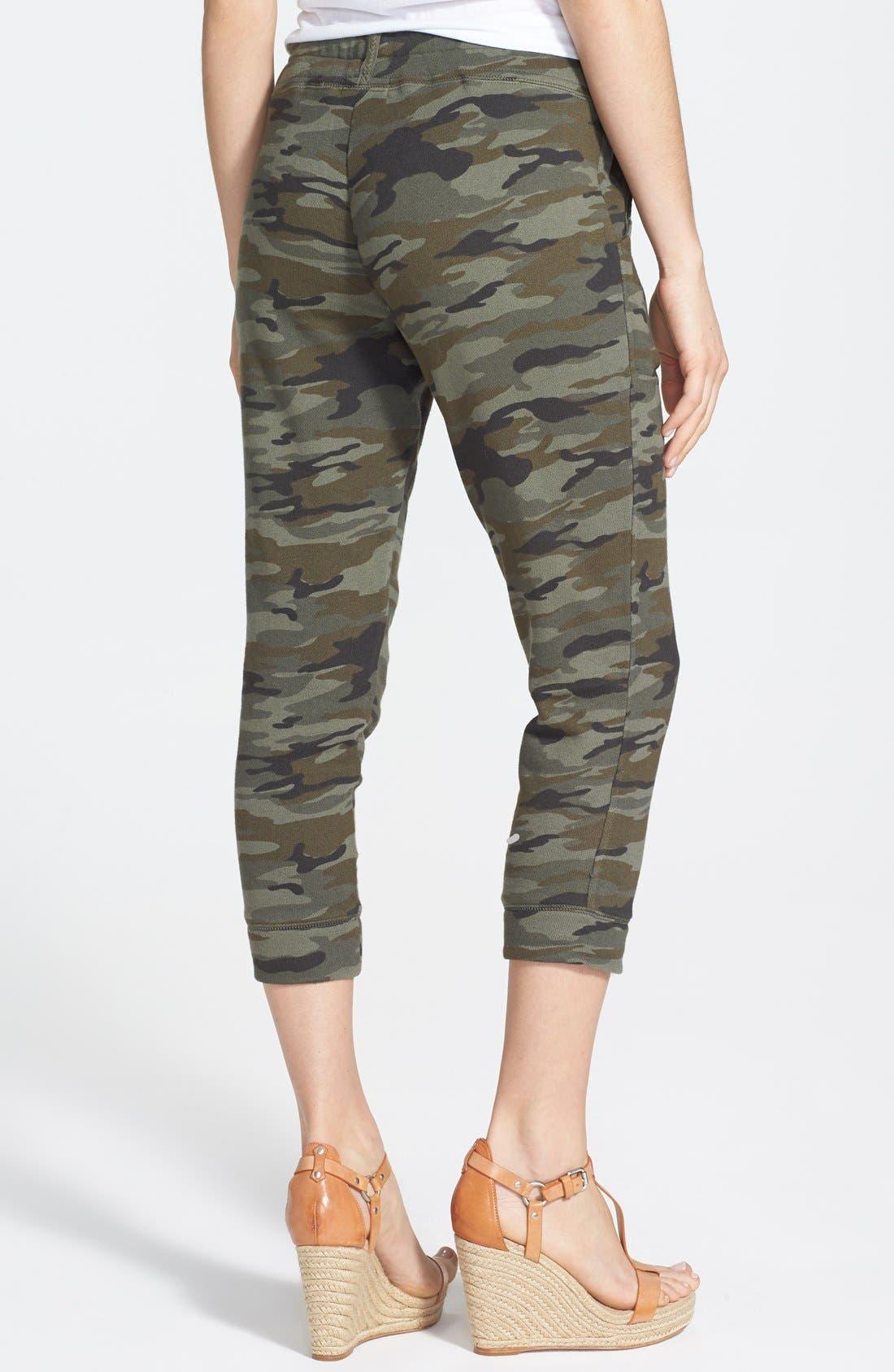 Alternate Image 2  - Lucky Brand Camo Print Crop Skinny Knit Pants