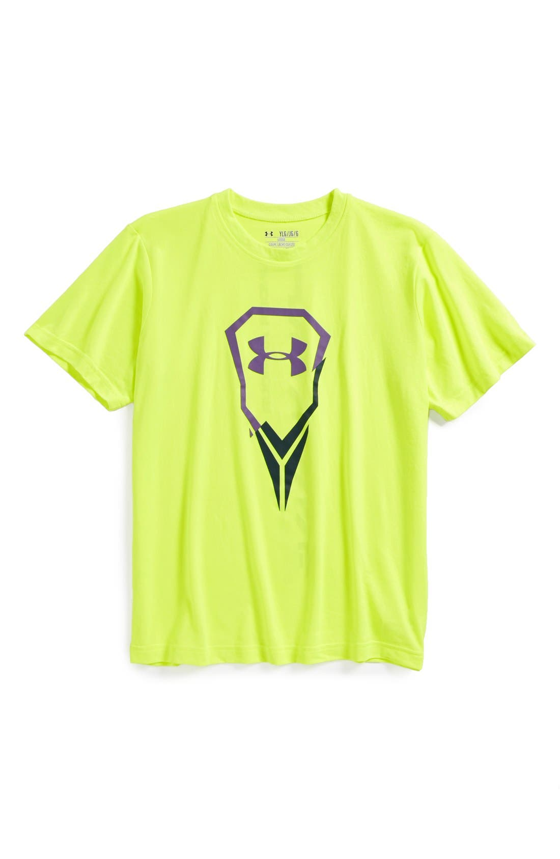 Alternate Image 1 Selected - Under Armour 'Ripped LAX Icon' HeatGear® T-Shirt (Big Boys)