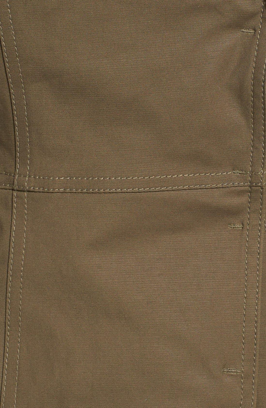 Alternate Image 3  - Dawn Levy Leather Sleeve Asymmetrical Jacket
