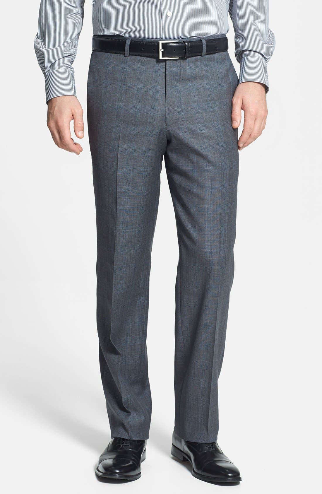 Alternate Image 4  - David Donahue Classic Fit Wool Suit