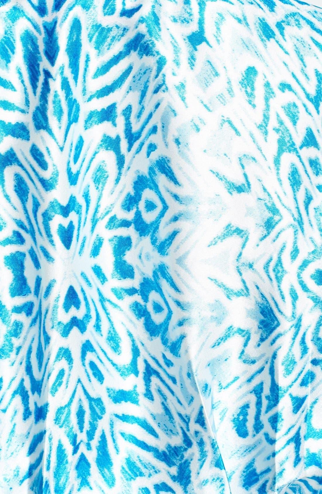Alternate Image 3  - Oscar de la Renta Sleepwear 'Ocean Breeze' Satin Charmeuse Wrap Robe