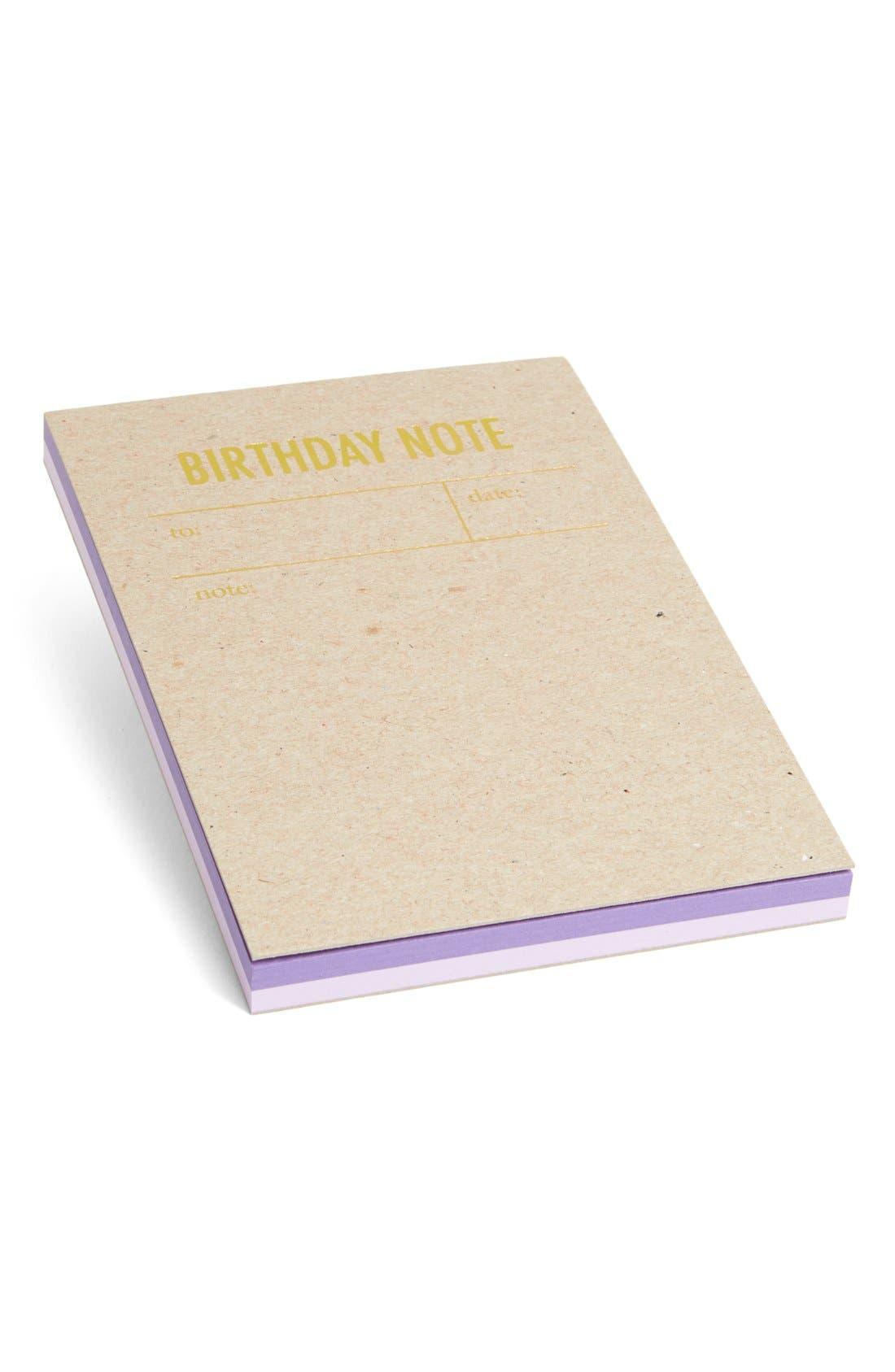 Main Image - Tokketok 'Birthday Note' Letterpress Note Cards (Set of 30)