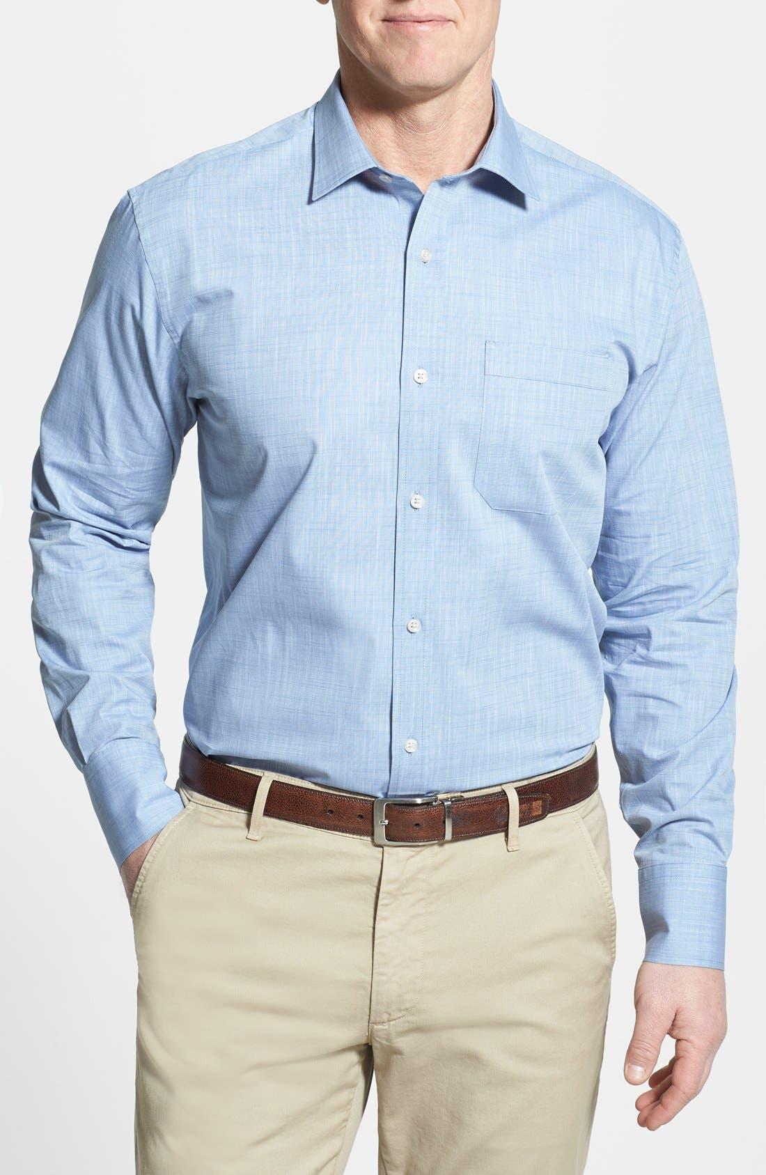 Main Image - Cutter & Buck 'Meadows' Oxford Sport Shirt (Big & Tall)