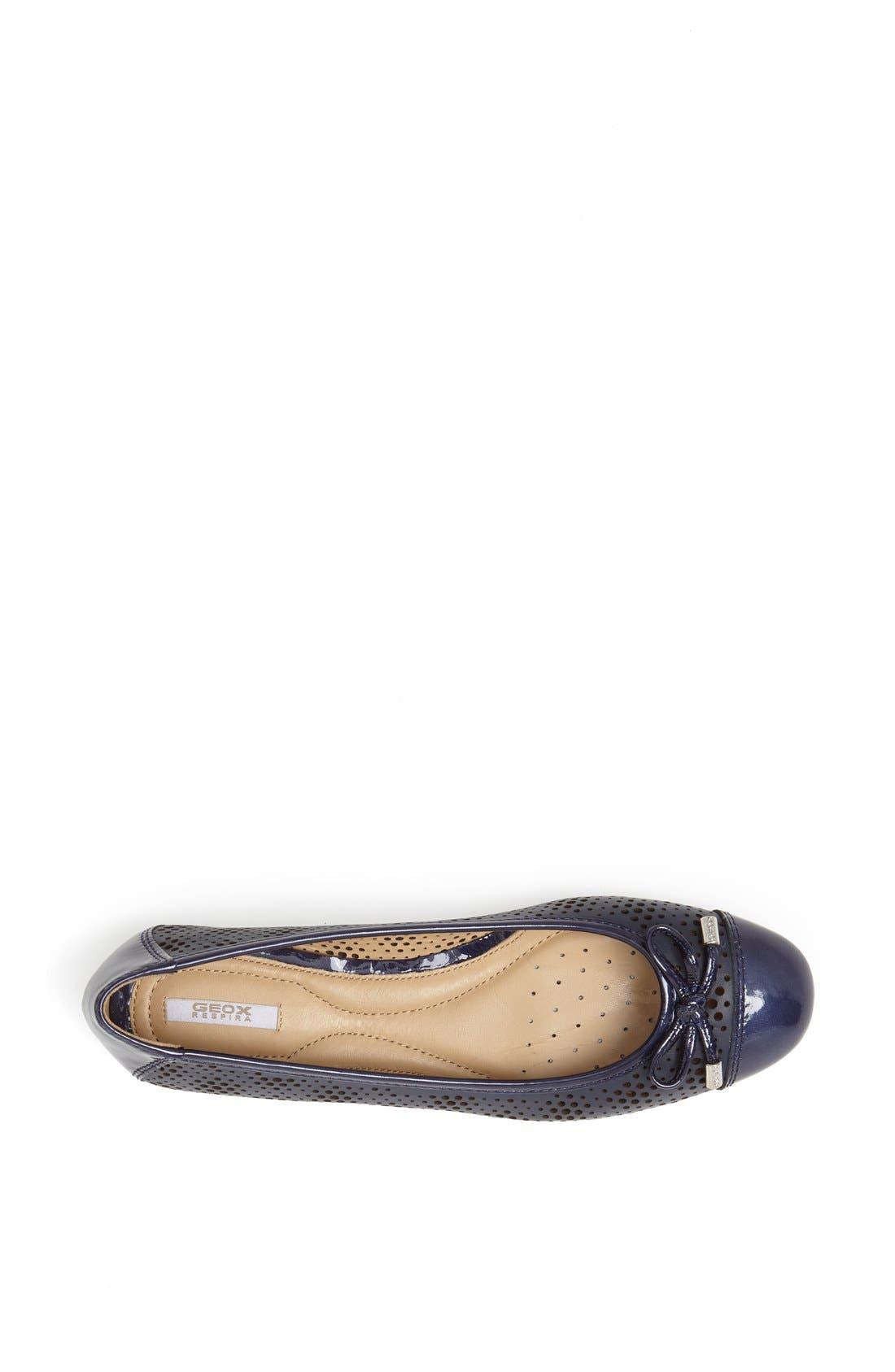 Alternate Image 3  - Geox 'Lola' Cap Toe Ballet Flat