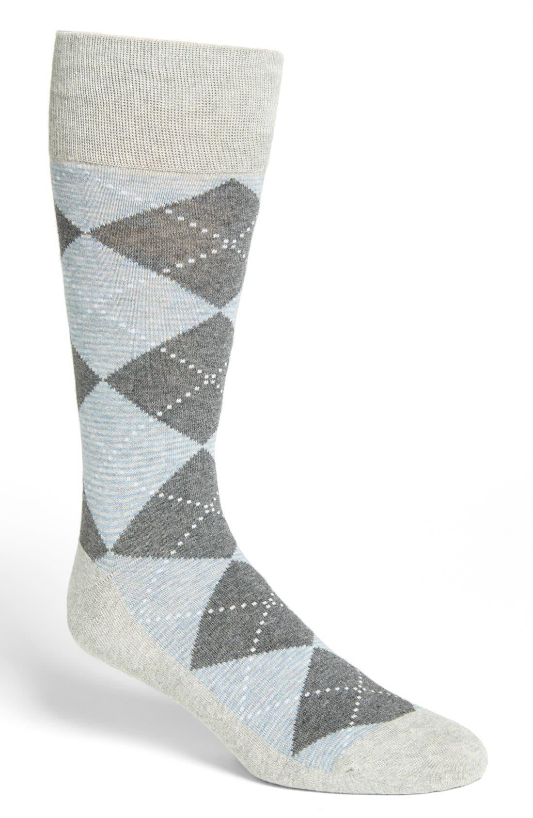 Main Image - Nordstrom Cushion Foot Argyle Socks (Men) (3 for $30)