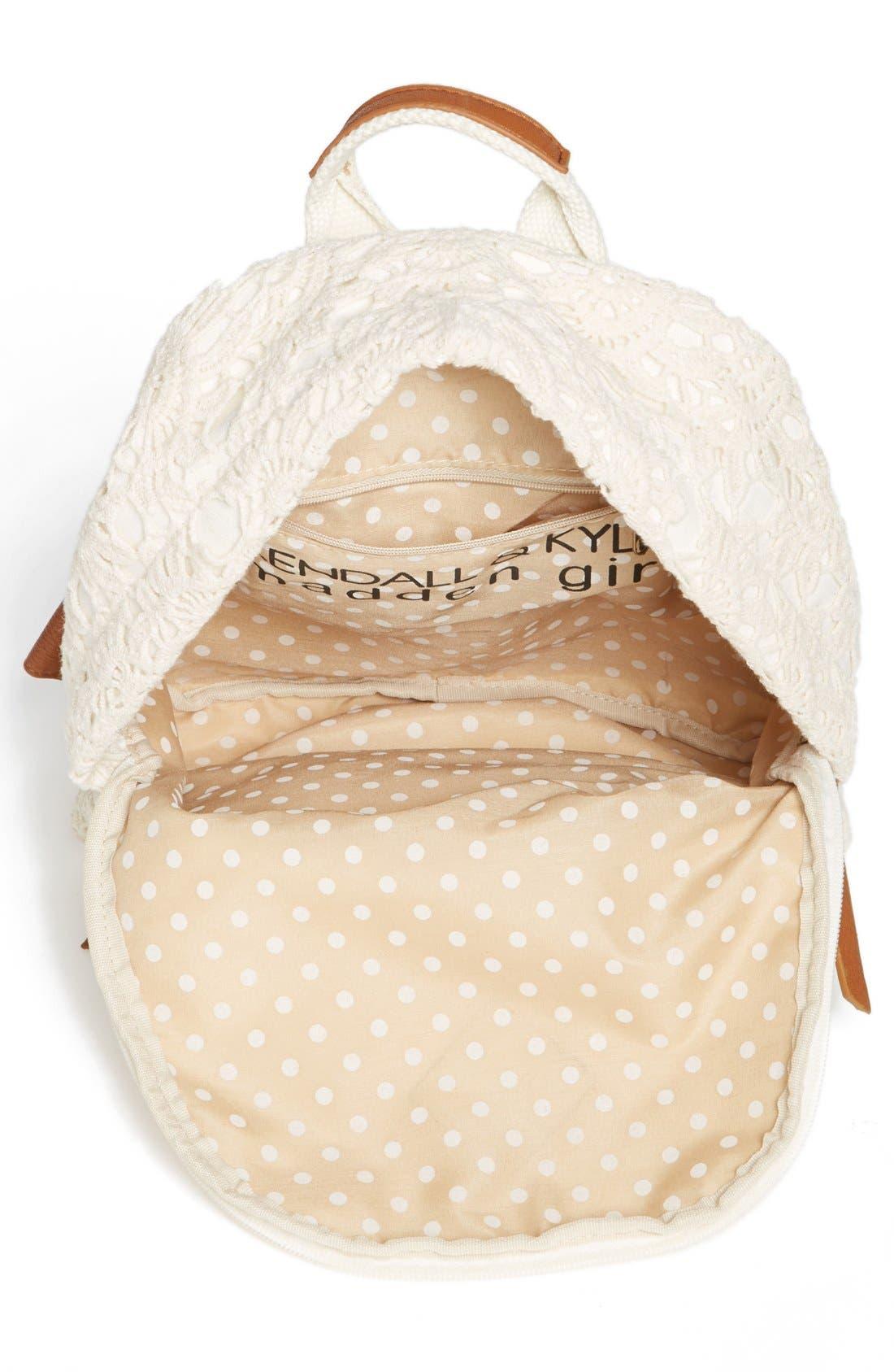 Alternate Image 2  - KENDALL + KYLIE Madden Girl Crochet Backpack (Juniors)