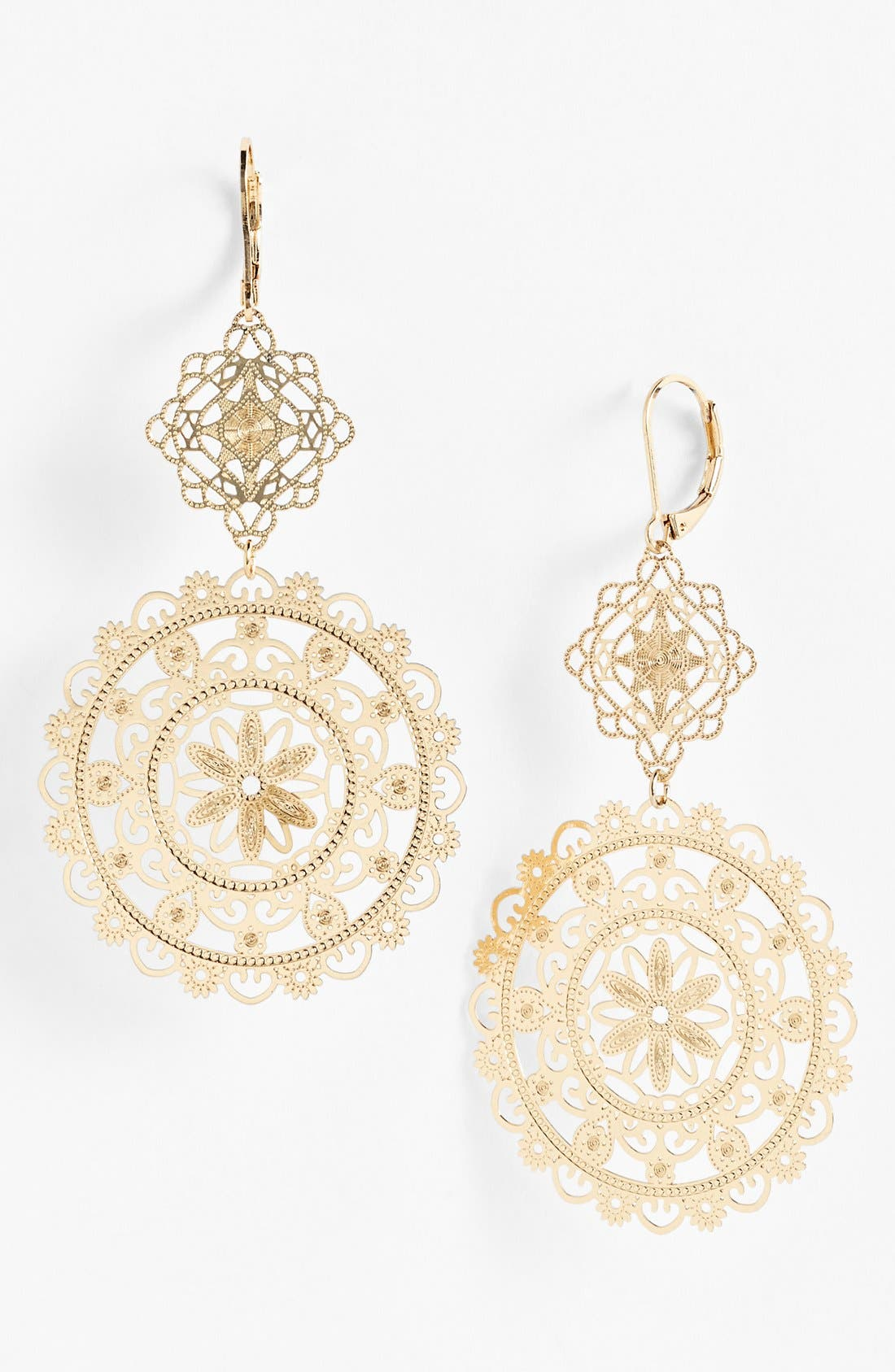 Alternate Image 1 Selected - Nordstrom 'Delicate Lace' Double Drop Earrings