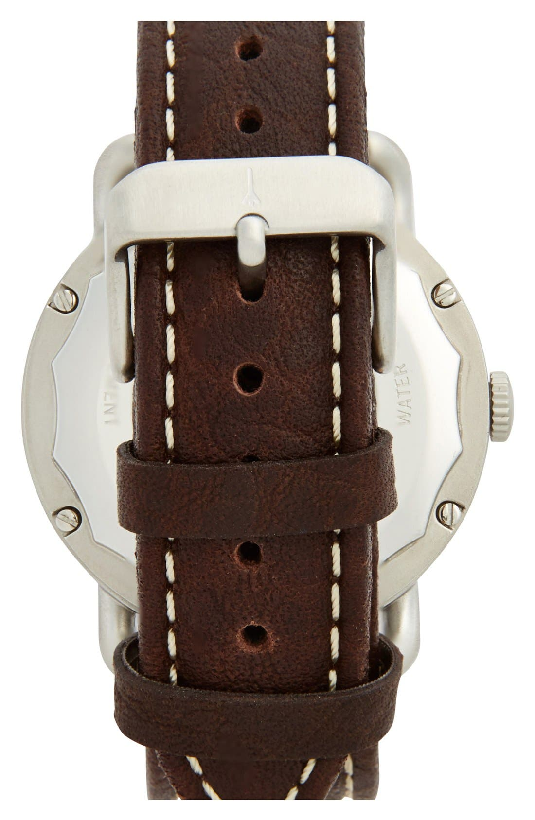 Alternate Image 2  - Jack Spade 'Buckner' Leather Strap Watch, 42mm