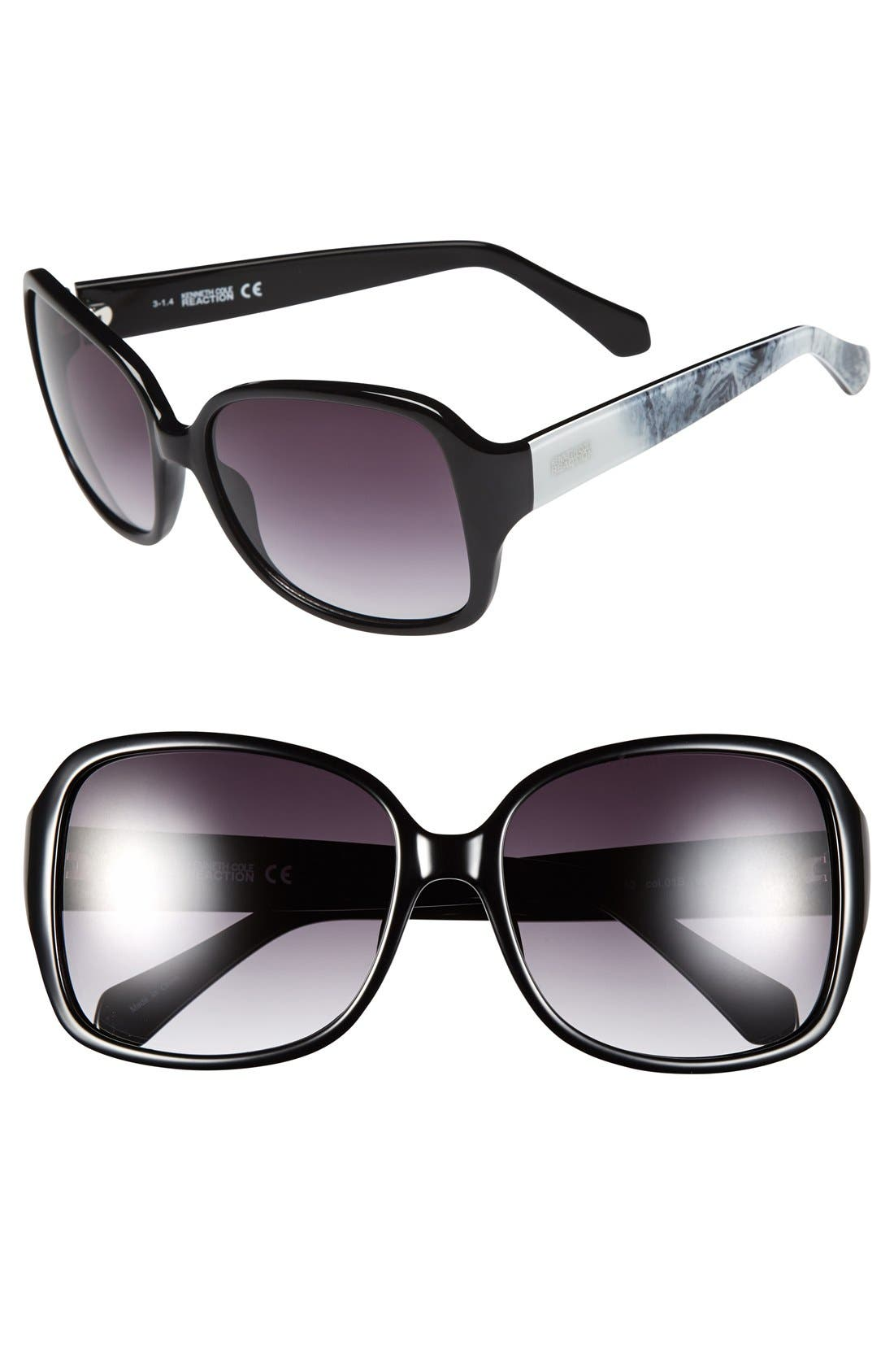 Main Image - Kenneth Cole Reaction 58mm Square Sunglasses