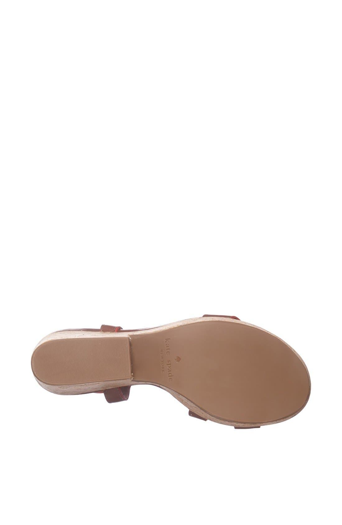 Alternate Image 4  - kate spade new york 'viex' wedge sandal